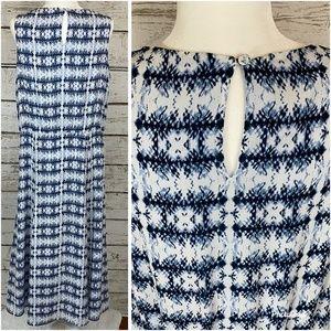 Pendleton Dresses - Pendleton White and Blue Fit and Flare Midi Dress